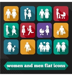 Women and Men Icons vector image