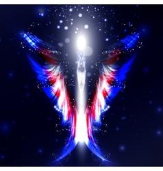 Angel futuristic background vector
