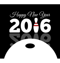 Congratulations to the happy new 2016 year with a vector image