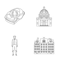 denmark history restaurant and other web icon vector image