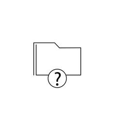 help folder icon vector image vector image