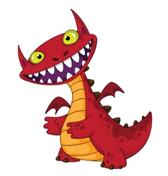 laughing dragon vector image