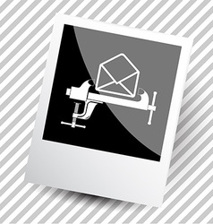 mail with clamp vector image vector image