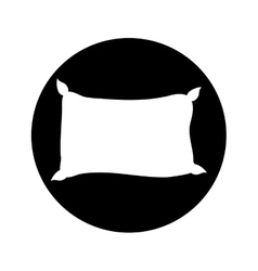 single pillow icon image vector image