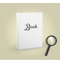 Front view of blank book vector image