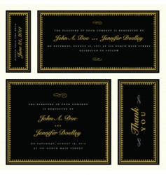 gold ornate frame set vector image