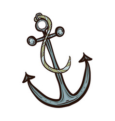 nautical ship anchor isolated vector image