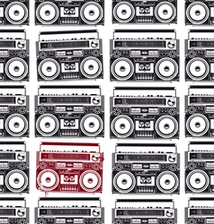 Old-school tape recorders seamless texture vector image vector image