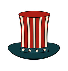 usa sam uncle hat vector image