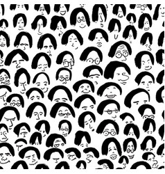 artistic seamless pattern with crowd of people vector image vector image