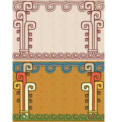 Aztec background two variants vector image