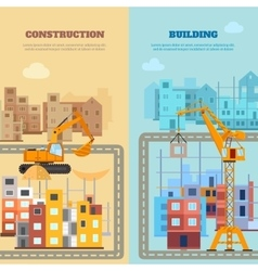 Construction And Building Banner Set vector image vector image