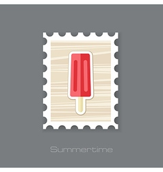 Ice Cream stamp Summer Vacation vector image vector image