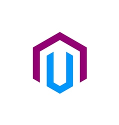shape construction business logo vector image vector image