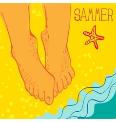 Summertime concept vector image vector image