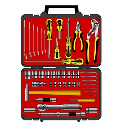 tools in a box vector image vector image