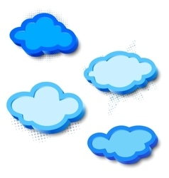 3d cloud frames vector