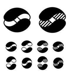 abstract sphere black symbols vector image