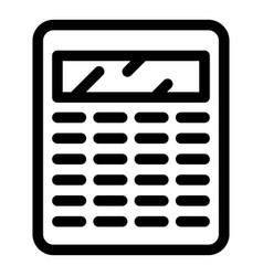 Accountant calculator icon outline style vector