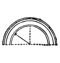 Arch range vintage engraving vector