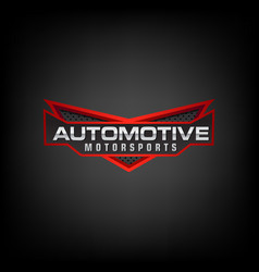 automotive logo perfect logo vector image