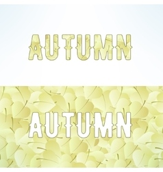 Autumn lettering background with light vector