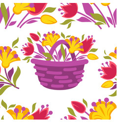 background seamless pattern with spring vector image