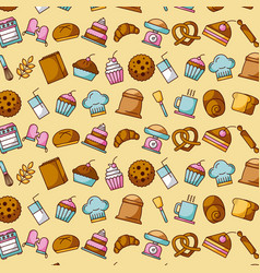 bakery dessert sweet food decoration wallpaper vector image