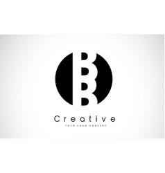 Bb letter logo design inside a black circle vector