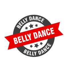 Belly dance sign belly dance round ribbon sticker vector