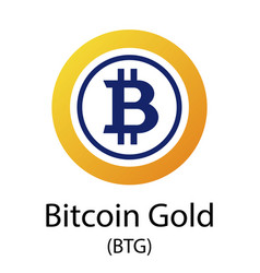 bitcoin gold cryptocurrency symbol vector image