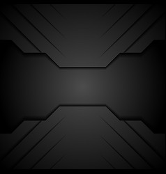black modern tech concept abstract background vector image