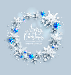 blue stars and snowflakes vector image