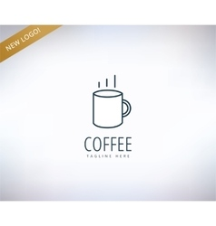 Caffee logo icon Caffe drink or vector
