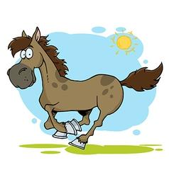 Cartoon Horse Running vector image