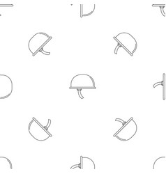 climb helmet icon outline style vector image