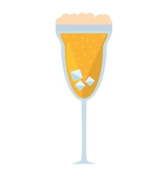 cocktail mimosa drink celebration vector image