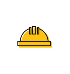 construction helmet graphic design template vector image