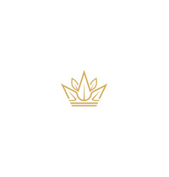 Crown luxury abstract leaf logo vector