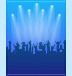 dance party poster template concert dj party or vector image