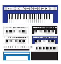Digital keyboard - digital piano - synthesizer vector