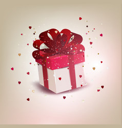 elegant background with gift box vector image