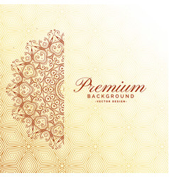elegant mandala decoration premium background vector image