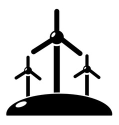 energy windmill icon simple style vector image