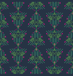Ethnic xmas eve boho green and blue geometric vector