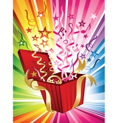 Exploding birthday present vector
