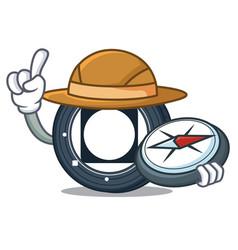 Explorer byteball bytes coin mascot cartoon vector