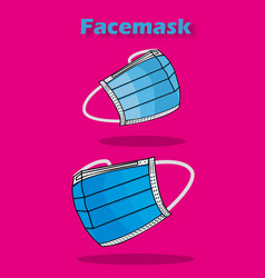 facemask vector image