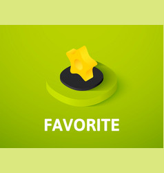 Favorite isometric icon isolated on color vector