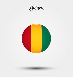 flag guinea icon vector image